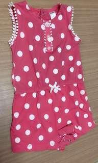 Carter's18m 粉色點點連身褲