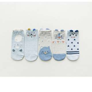SET OF 5 PAIR ANKLE SOX - EACH RM 6