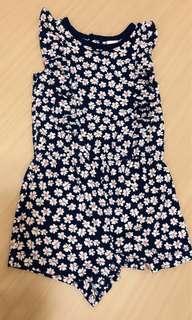 Carter's18m 藍底小花連身褲