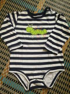 Baby Romper (long-sleeved) Stripe