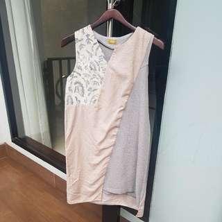 Greyish Batik Dress