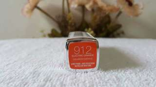 Maybelline newyork color sensational vivid lipstick electric orange 912