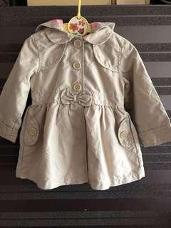 Baby Coat Girl Kids 嬰兒女裝乾濕䄛 有帽外套