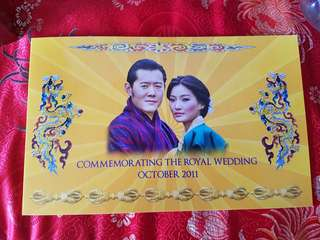 Bhutan Commemorating The Royal Wedding 2011 Notes