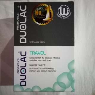 box of 60 DUOLAC TRAVEL tablets at $20
