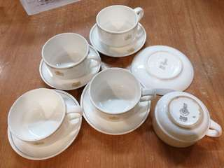 Vintage British airways cup n saucer x5 sets Royalties Doulton. All for $22
