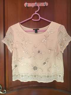F21 Beaded Blouse