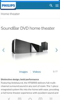 Philips SW9100/59 Theatre Sound System