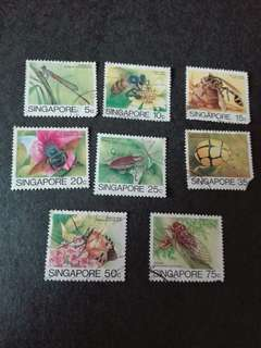 Singapore Stamps Insects Used
