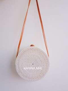Bali Round Bag - White (On Hand)