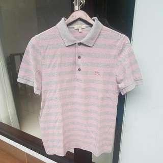 Burberry Grey Stripes Polo Shirt