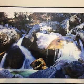 Waterfall art work 840x600mm