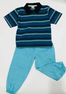Baju setelan anak kera biru