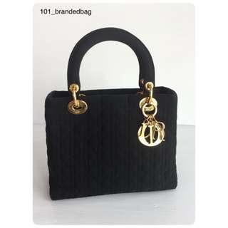 Christian Dior Lady Dior Microfiber Medium Tote Bag