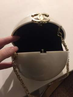 Chanel vip round cc clutch with 2 different handles