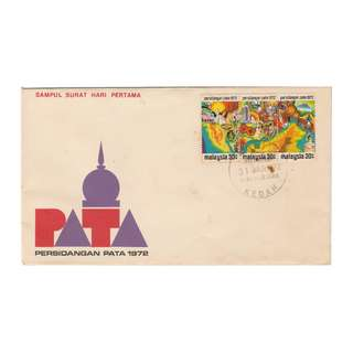 Malaysia 1972 Pacific Area Tourist Association Conference - PATA FDC SG#95-97