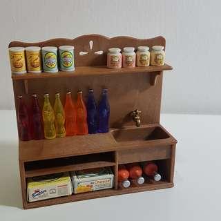 Sylvanian Families Storage Cupboard / Shelf / Sink Set