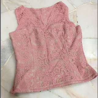 🆕Pink Lace Top