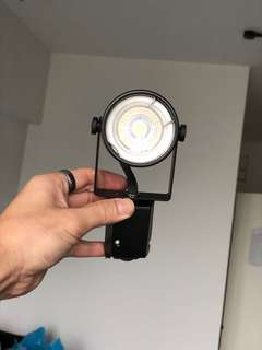 Track light bulbs and holder for sale.