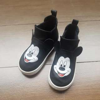H&M Black Mickey Mouse Shoes