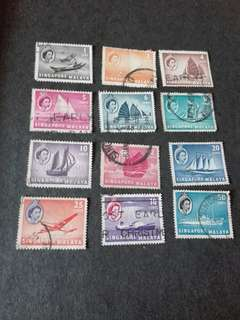Singapore Malaya Stamps Used