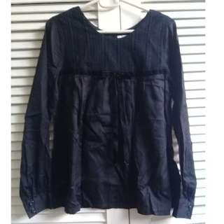 Black Reversible Blouse