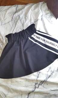 Black And White Korean Style Skirt