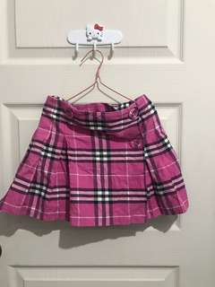 Burberry plaid skirt