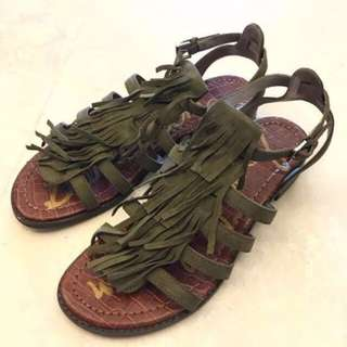 95%New Sam Edelman Estelle Fringe Sandals 涼鞋