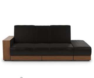 Faux black leather sofa bed for sales