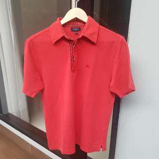 Burberry Red Chekered Polo Shirt