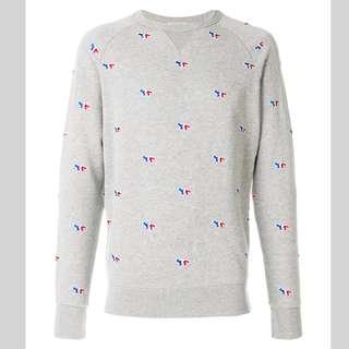 🚚 全新正品法國知名品牌Maison Kitsune 灰色衛衣