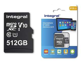 Integral 512GB MicroSD World Largest! (Works with Switch)