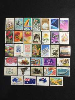 Australia 35pcs Commemoratives Used