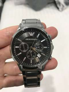 Mens Emporio Armani stainless steel watch