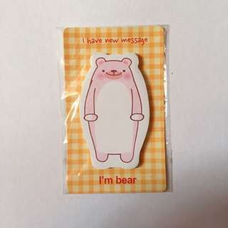 New Cute Bear Sticky Notes