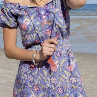 Inika Embroidered Maxi Dress Size 14