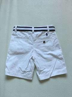 Ralph Lauren 4Y white shorts with belt