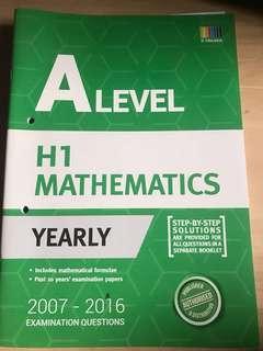 A Level H1 Mathematics Yearly TYS 2007-2015