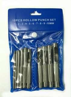 皮革 沖子 10件套裝 空心 皮帶沖子 打孔器 1/2/3/4/5/6/7/8/9mm 專用打孔器 皮革 腰帶 打洞器 開孔器