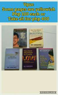 Bo Sanchez books 5 pcs