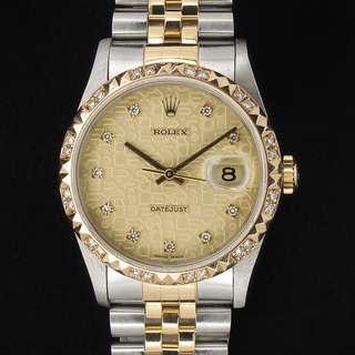 Rolex 16233 with Diamond Dial and Diamond Bezel