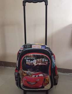 Cars Trolley bag for Pre schoolers