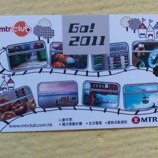 2011年MTR CLUB 月曆卡咭