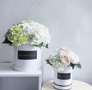 Artificial flower ( faux ) scented bloom box