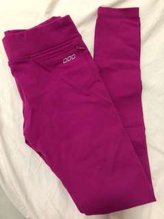 Authentic Lorna Jane size xs boysenberry full length tights gym pants Amy tights