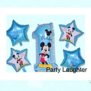 <In-stock>Mickey 1st birthday balloon bouquet