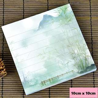 Bamboo forest scenic / watercolour notepad #10