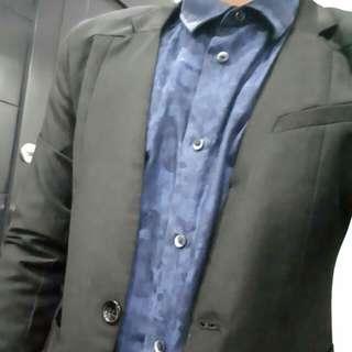 Skinny Fit Suit Blazer Men