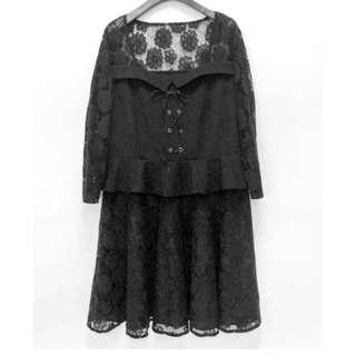 🎠 FLASH DEAL - Plus Size 3X Floral Lace Crotchet Sweetheart Bustier Criss Cross Peplum OL Dolly Premium Dress